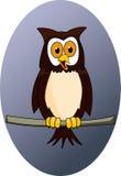rolig owl för tecknad film Royaltyfria Bilder