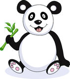 rolig panda för tecknad film Royaltyfri Foto