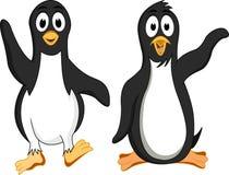 rolig pingvin för tecknad film Arkivfoton