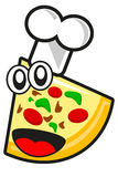 rolig pizza Royaltyfria Foton