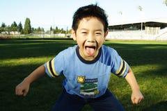 rolig pojke Fotografering för Bildbyråer