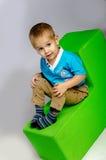 Rolig pojke royaltyfria foton