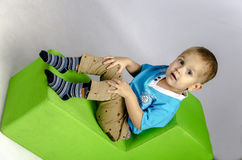 Rolig pojke Arkivbild