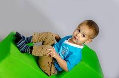 Rolig pojke Royaltyfri Foto