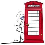 Rolig pojke som talar på telefonen Royaltyfria Foton