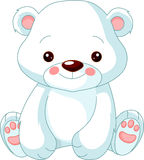 rolig polar zoo för björn Royaltyfri Bild