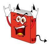 Rolig röd ond bok Arkivbild