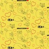rolig raccoon för tecknad film royaltyfri illustrationer