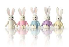 rolig rad för kaniner Arkivbilder
