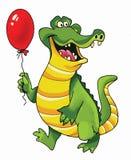 Rolig reptil för krokodiltecknad filmbild vektor illustrationer