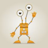 rolig robot Stock Illustrationer