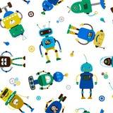 Rolig robotmodell stock illustrationer