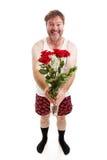 Rolig romantisk grabb - isolerad full kropp Royaltyfria Foton