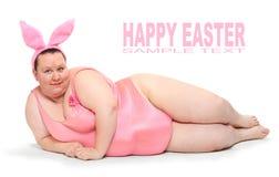 Rolig rosa kanin. Royaltyfria Bilder