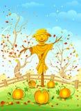 Rolig scarecrow Royaltyfria Foton