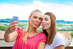 Rolig selfie Royaltyfria Foton