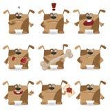 rolig set för tecknad filmhund Fotografering för Bildbyråer