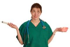 rolig sjuksköterska Arkivbild