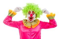 Rolig skämtsam clown arkivfoto