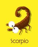 Rolig skorpion stock illustrationer