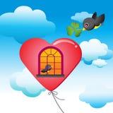 rolig sky Stock Illustrationer