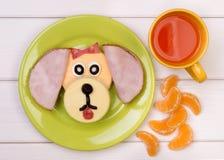 Rolig smörgås för ett barn Arkivfoto