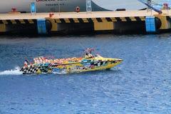 Rolig snabb motorbåt Arkivbilder