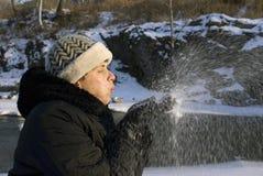 rolig snow Arkivbilder