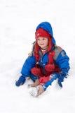 rolig snow arkivfoto