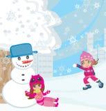rolig snow vektor illustrationer