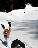 rolig snowboarding Royaltyfri Foto