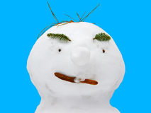 rolig snowman Arkivfoto