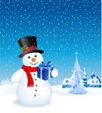 rolig snowman royaltyfri illustrationer