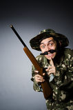 Rolig soldat Royaltyfria Bilder