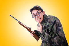 Rolig soldat Fotografering för Bildbyråer