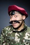 Rolig soldat i militär Royaltyfri Bild