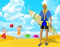 rolig sommarsemester Arkivbild