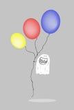 Rolig spöke med ballonger Vektor Illustrationer