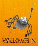 Rolig spindel för tecknad film. Royaltyfri Bild