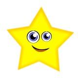 rolig stjärna för tecknad film Royaltyfria Bilder