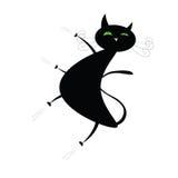 Rolig svart katt Arkivbilder