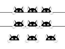 Rolig svart kattillustration Royaltyfri Illustrationer