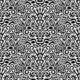 Rolig svartvit sömlös modellbakgrund Arkivfoton