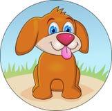 rolig tecknad filmhund Royaltyfria Bilder
