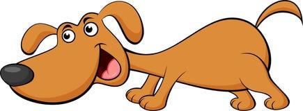 rolig tecknad filmhund Arkivbild