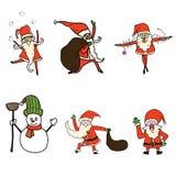 Rolig tecknad Santa Claus tecknad filmhand Fotografering för Bildbyråer