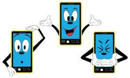Rolig telefon royaltyfri illustrationer