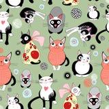 rolig textur för katter royaltyfri illustrationer