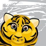 Rolig tiger för tecknad film Royaltyfri Fotografi