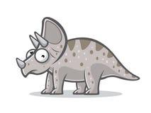 Rolig Triceratops för tecknad film Arkivbild